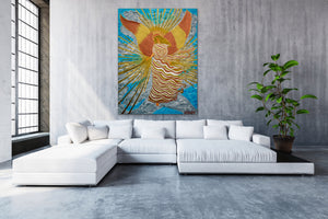 Angel Of Light | Original Painting - Teresa Andre Art
