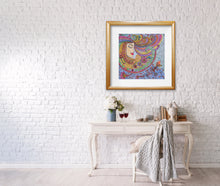 Load image into Gallery viewer, Lady Zendoodle Drawing | Paper Art Print - Teresa Andre Art