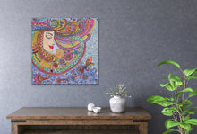 Load image into Gallery viewer, Lady Zendoodle Drawing | Giclee Wrapped Canvas - Teresa Andre Art