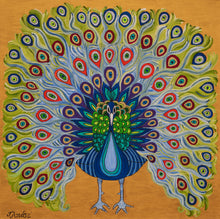 Load image into Gallery viewer, Colorful Peacock | Paper Art Print - Teresa Andre Art