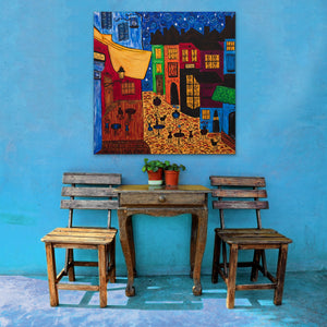 The Cafe Painting | Giclee Wrapped Canvas - Teresa Andre Art