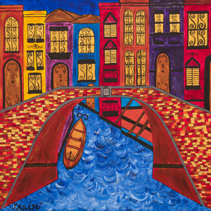 Venice Italy Bridge | Giclee Wrapped Canvas - Teresa Andre Art