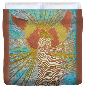 Angel Of Light - Duvet Cover - Teresa Andre Art