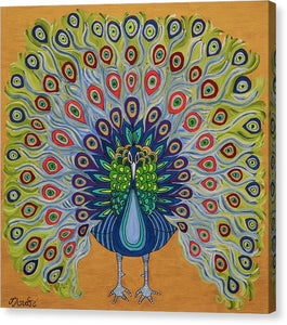 Colorful Peacock | Giclee Rolled Canvas - Teresa Andre Art