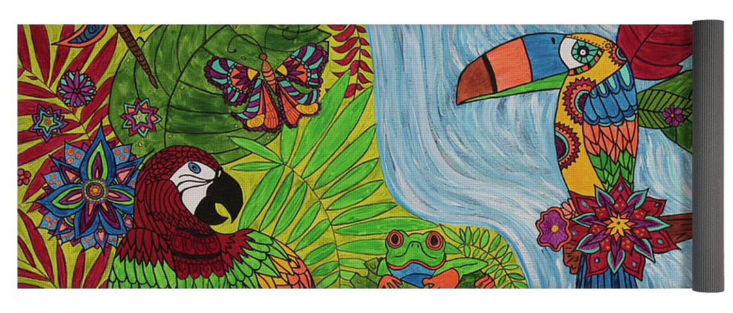 Costa Rica Jungle - Yoga Mat - Teresa Andre Art