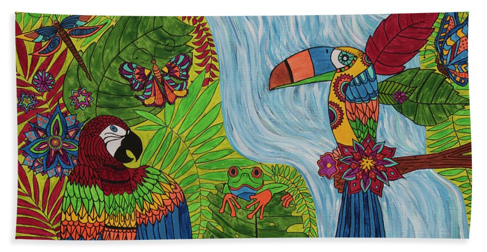 Costa Rica Jungle - Bath Towel - Teresa Andre Art