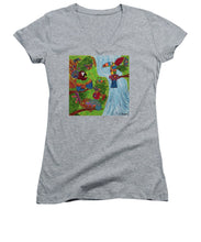 Load image into Gallery viewer, Costa Rica Jungle - Women's V-Neck - Teresa Andre Art