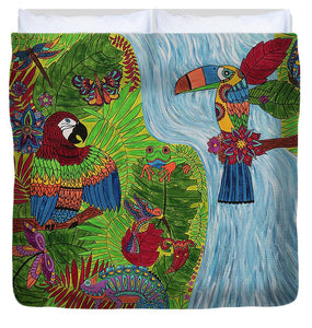 Costa Rica Jungle - Duvet Cover - Teresa Andre Art