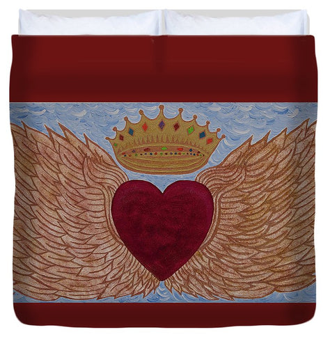 Heart With Wings - Duvet Cover - Teresa Andre Art