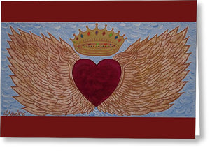 Heart With Wings - Greeting Card - Teresa Andre Art