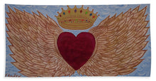Load image into Gallery viewer, Heart With Wings - Bath Towel - Teresa Andre Art