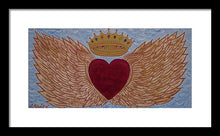 Load image into Gallery viewer, Heart With Wings - Framed Print - Teresa Andre Art
