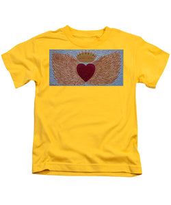 Heart With Wings - Kids T-Shirt - Teresa Andre Art
