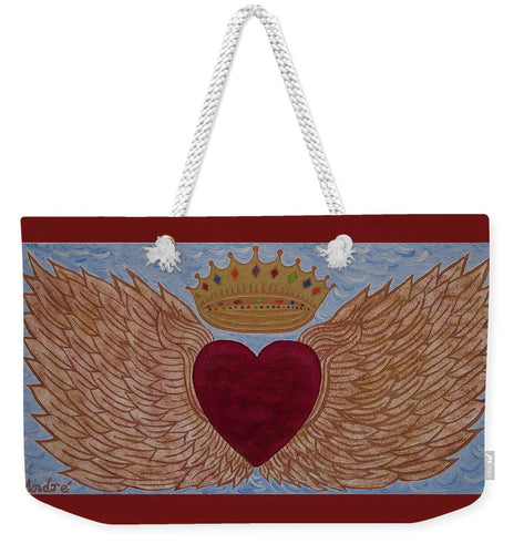 Heart With Wings - Weekender Tote Bag - Teresa Andre Art