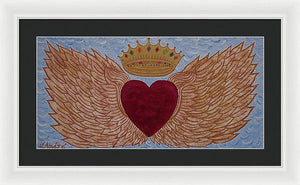 Heart With Wings - Framed Print - Teresa Andre Art