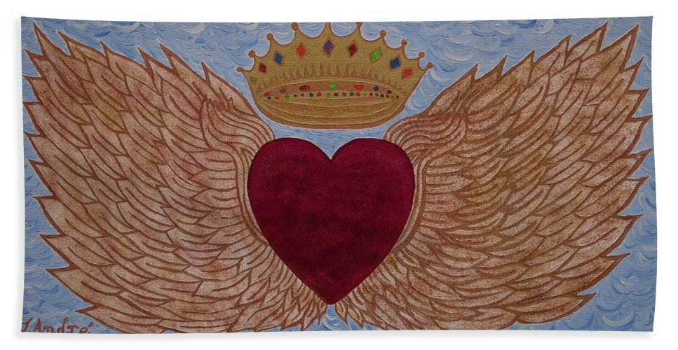 Heart With Wings - Bath Towel - Teresa Andre Art
