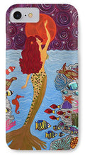 Load image into Gallery viewer, Mermaid Painting With Moon - Phone Case - Teresa Andre Art