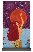 Load image into Gallery viewer, Mermaid Painting With Moon - Yoga Mat - Teresa Andre Art