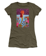 Load image into Gallery viewer, Mermaid Painting With Moon - Women's T-Shirt - Teresa Andre Art