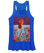 Load image into Gallery viewer, Mermaid Painting With Moon - Women's Tank Top - Teresa Andre Art