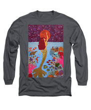 Load image into Gallery viewer, Mermaid Painting With Moon - Long Sleeve T-Shirt - Teresa Andre Art
