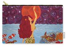 Load image into Gallery viewer, Mermaid Painting With Moon - Carry-All Pouch - Teresa Andre Art