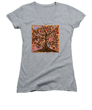 Load image into Gallery viewer, Tree Of Life - Women's V-Neck - Teresa Andre Art