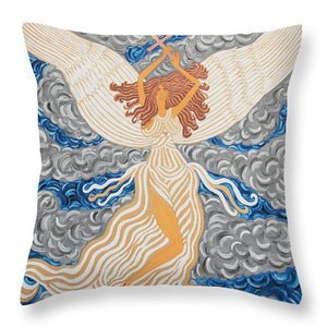 Victorious Angel - Throw Pillow - Teresa Andre Art