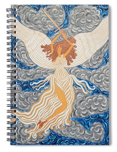 Victorious Angel - Spiral Notebook