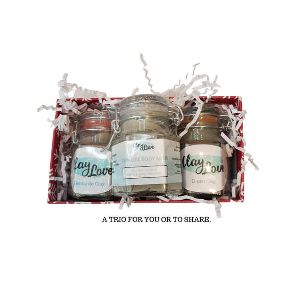 Clay Trio Gift Set with 2-Minute Body Mask