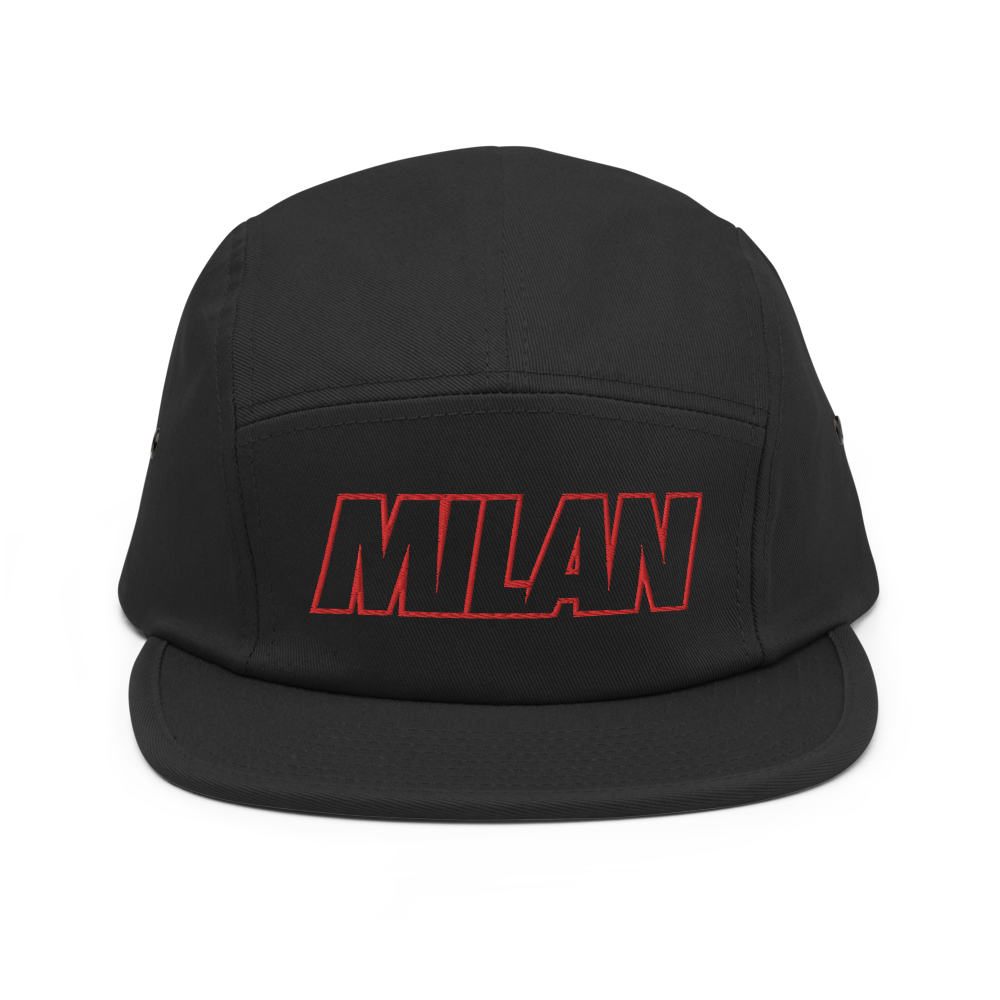 Milan Bold Five Panel Hat - Soccer Snapbacks