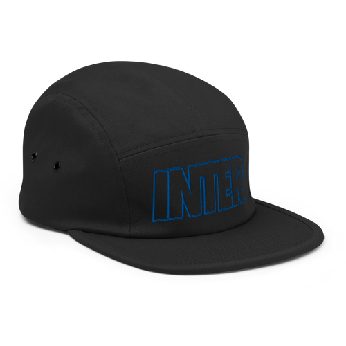 Inter Bold Five Panel Hat - Soccer Snapbacks