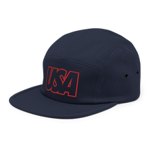Load image into Gallery viewer, USA Five Panel Hat - Soccer Snapbacks