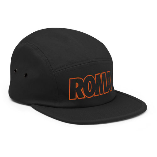 Roma Bold Five Panel Hat - Soccer Snapbacks