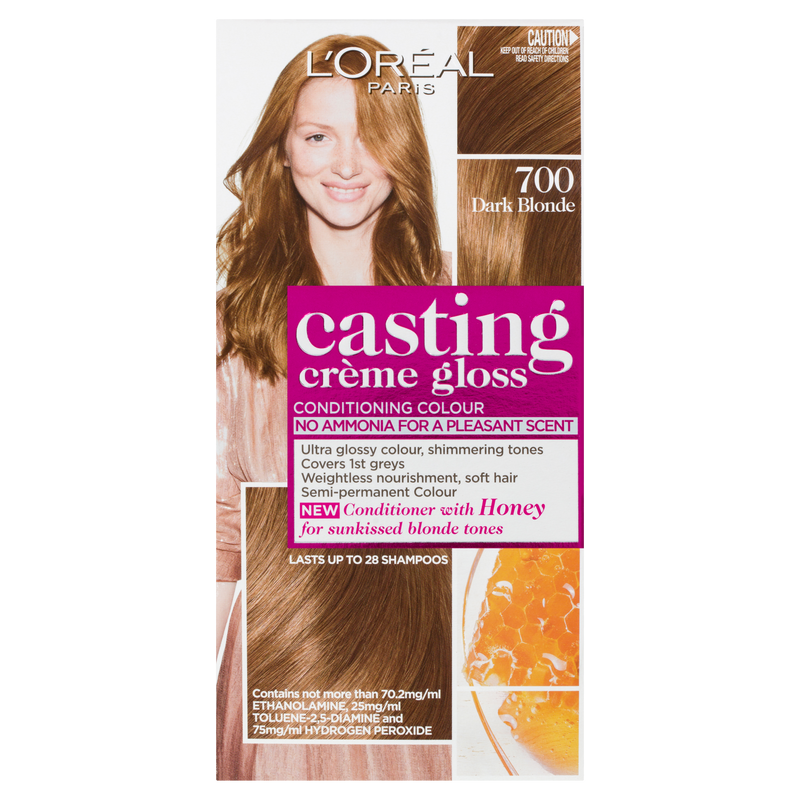 L'Oréal Paris Casting Crème Gloss Semi-Permanent Hair Colour - 700 Dark Blonde (Ammonia Free)