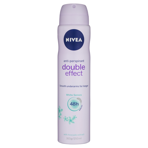 Nivea Double Effect White Senses Aerosol Deodorant 250ml