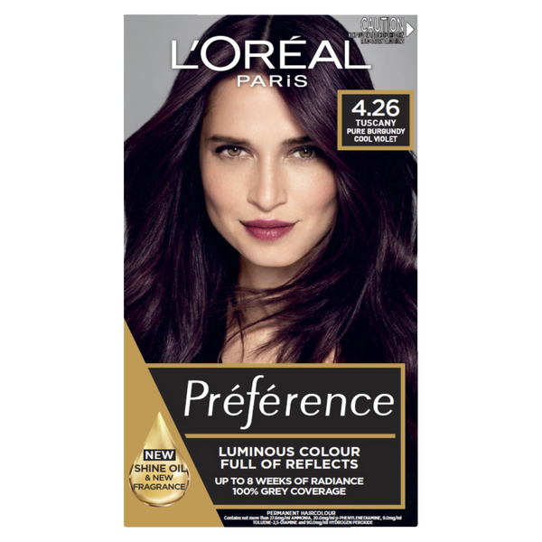 L'Oreal Paris Preference 4.26 Tuscany Pure Burgundy Cool Violet