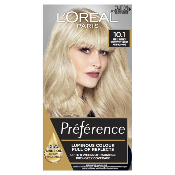 L'Oreal Paris Preference 10.1 Helsinki Very Very Light Ash Blonde