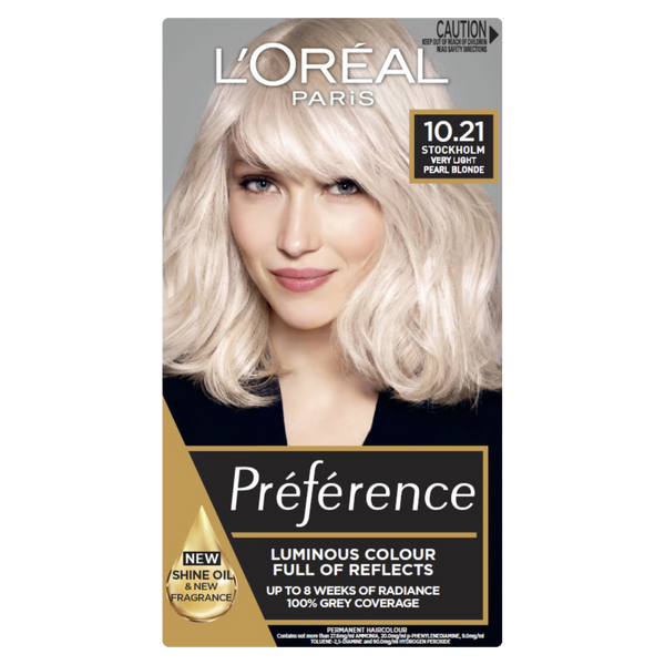L'Oreal Paris Preference 10.21 Stockholm Very Light Pearl Blonde
