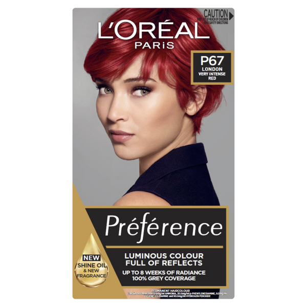 L'Oreal Paris Preference P67 London Very Intense Red