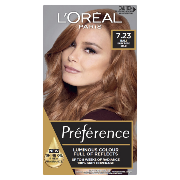 L'Oreal Paris Preference 7.23 Bali Dark Rose Gold
