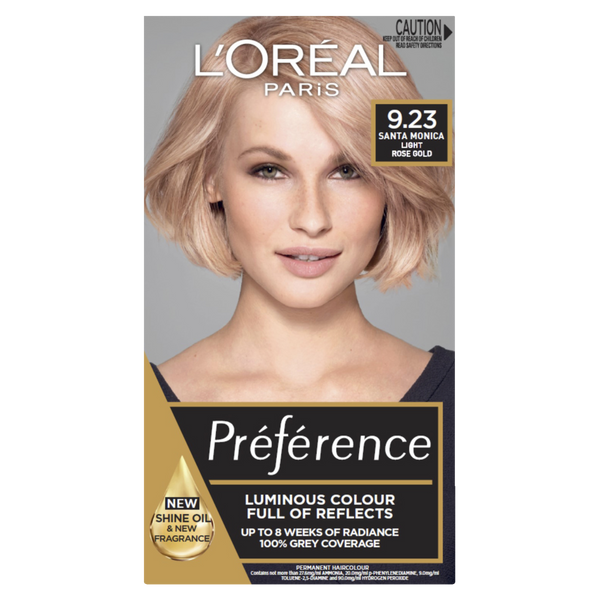 L'Oreal Paris Preference 9.23 Santa Monica Light Rose Gold