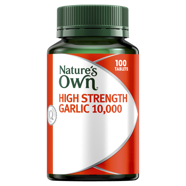 Natures Own High Strength Garlic 10000mg Odourless Tablets 100 Tab