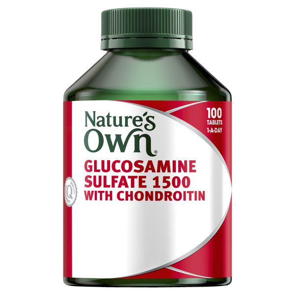 Natures Own Glucosamine Sulfate 1500 With Chondroitin  100 Tabs