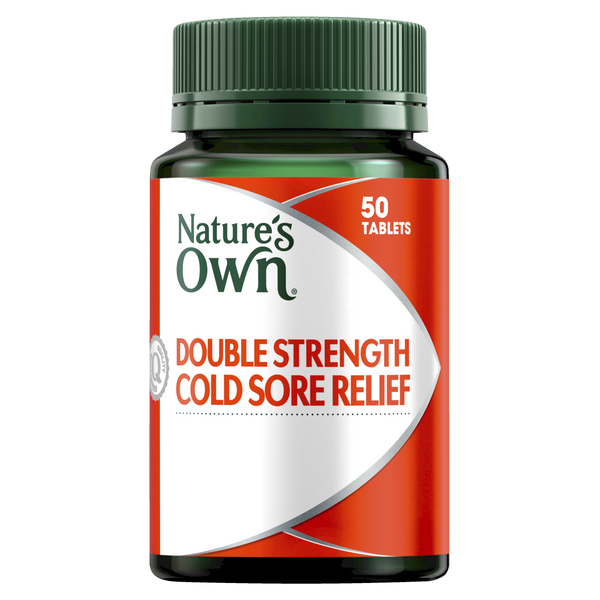 Natures Own Double Strength Cold Sore Relief 50 Tabs