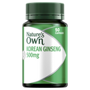 Natures Own Korean Ginseng 500mg 50 Capsules