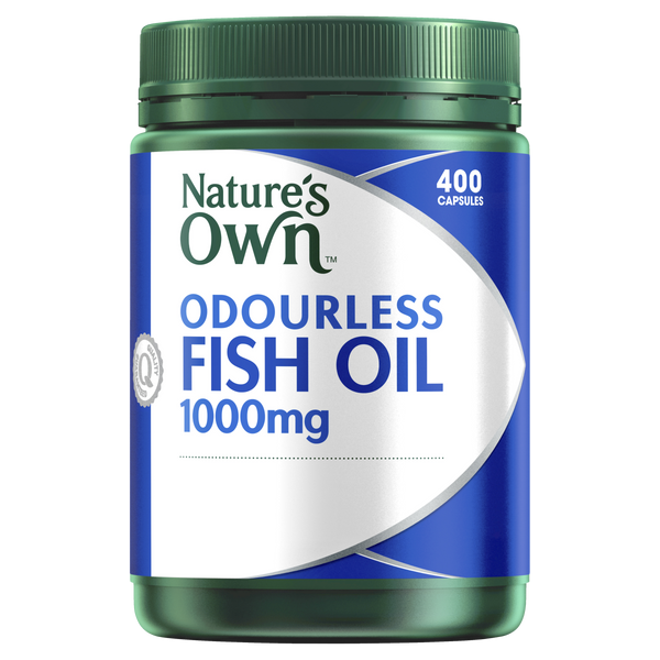 Natures Own Odourless Fish Oil 1000mg 400 Caps