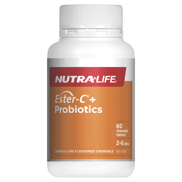 Nutra-Life Ester-C + Probiotics 60 Chewable Tablets