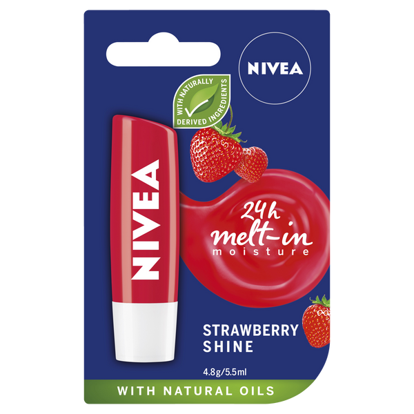 Nivea Lip Care Strawberry Shine 4.8G