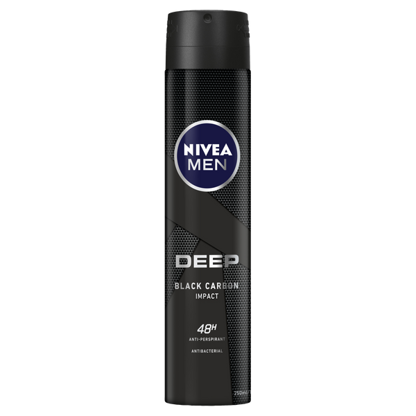 Nivea Men Deep Anti-perspirant Aerosol Deodorant 250ml